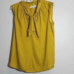 [Loft] Front Tie Sleeveless Blouse